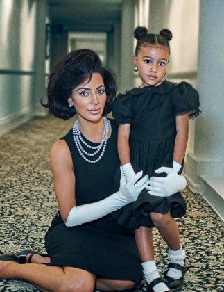 That time Kim and North channeled their inner Jackie Kennedy in their first mother-daughter photoshoot for Interview Magazine. (Photo: Instagram)