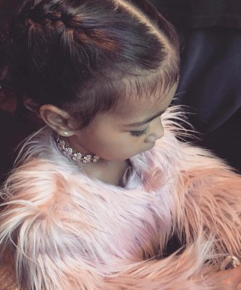 That time North paired her fury coat with a real-diamond choker. (Photo: Instagram)