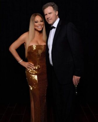 """Shake and bake! Thanks you for coming to my show last night! #Elf forever!"" Mariah captioned this picture of her secret best friend Will Farrell after he came to her show in Las Vegas. (Photo: Instagram)"