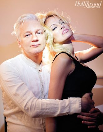 Pamela Anderson and Julian Assange's relationship is certainly a puzzler. Reports have even speculated this two are more than just BFFs. And given their racy photoshoot for the Hollywood Reporter, we wouldn't be surprised! (Photo: Instagram)