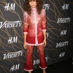 Zendaya Coleman sparkled at Variety's 2017 Power of Young Hollywood event in a pink hombre sequined covered suit. (Photo: WENN)