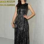 Rossum shined at the 2018 Hammer Museum Gala in a metallic grey, waist cinching maxi dress designer by Maier. (Photo: WENN)