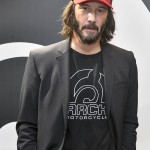 2018—Keanu Reeves presenting the Arch Motorcycle at the EICMA. (Photo: WENN)