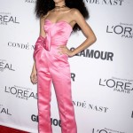 Zendaya walked at the Glamour Women of the Year 2017 red carpet showcasing her toned figure in a hot pink sleeveless satin jumpsuit. (Photo: WENN)