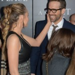 """Blake lovingly caressing her husband's cheek at the New York premiere of """"The Quiet Place."""" (Photo: WENN)"""