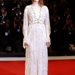 """Emma Stone attended the premiere of her movie """"The Favourite"""" looking ethereal in a semi-sheer sequined Louis Vuitton dress. (Photo: WENN)"""