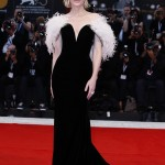 """Cate Blanchett was the epitome of elegance in a plunging black velvet Armani Privé gown featuring feather detailing at the premiere of """"A Star Is Born."""" (Photo: WENN)"""