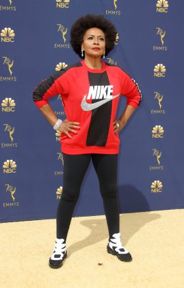 While we applaud Jenifer Lewis for wearing Nike in support of Colin Kaepernick, despite sparkly crystals studded logo, the outfit wasn't very red carpe appropriate. (Photo: WENN)