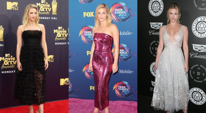 Seem like in Betty's attempt to be the perfect student, daughter, and sister, she also turned into the fashion icon we never knew we needed! Here are Lili Reinhart's 10 best looks on the red carpet. (Photo: WENN)