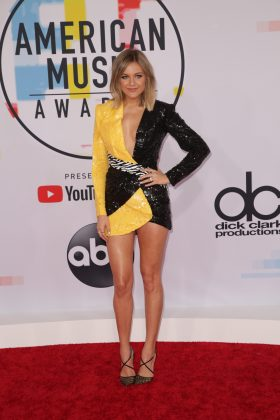 Kelsea Ballerini took bumble bee fashion to new and unwanted heights. (Photo: WENN)
