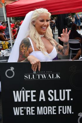 Amber Rose's SlutWalk is a movement calling for an end to rape culture, including victim blaming assault victims. (Photo: WENN)