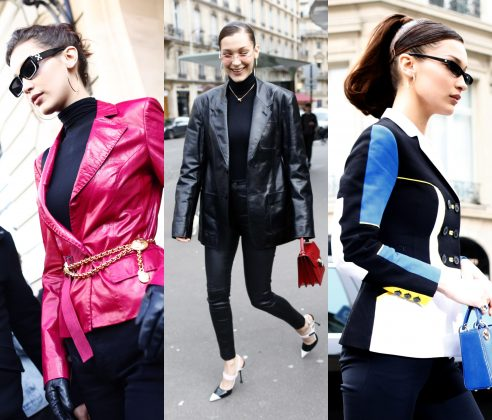 In honor of her 22nd birthday, here's a look back at Bella Hadid's street style in 10 pictures. Click through to track the model's hot off-duty outfits. (Photos: WENN)