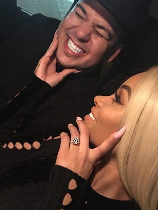 After dating a mere 10 weeks, Rob proposed to Chyna and the couple got engaged in April 2016. (Photo: Instagram)