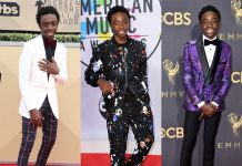 In honor of the actor's birthday, here's a look at some of the best fashion moments of Lucas Sinclair when he leaves Hawkins' spooky streets and heads to Hollywood's most exclusive events. (Photo: WENN)