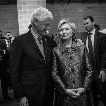Bill Clinton's is probably the most-well known affair in the history of celebrity. He was plagued by accusations of infidelity throughout his life as a political figure. Even so, Hillary has stood beside Bill through all of this. (Photo: Instagram)