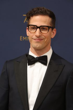 Andy Samberg's lips naturally pull his mouth up to his left, making him look like he's about to crack a joke every time he smiles. (Photo: WENN)