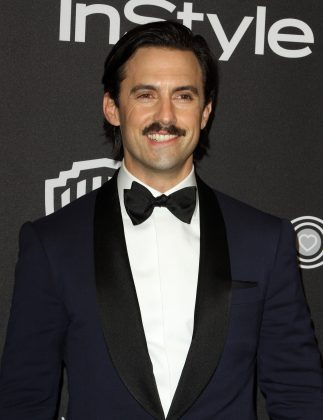 "Milo Ventimiglia's self-described ""crooked"" smile is the result of a birth defect involving dead nerves that causes his lower lip to lie limp and makes our knees weak. (Photo: WENN)"