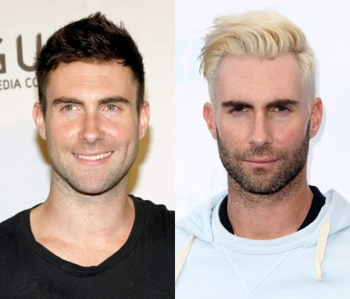 Dear Adam Levine, if you want to experiment with your looks, keep dying your hair. But please, don't mess with your beard. (Photo: WENN)
