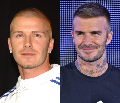 David Beckham simply doesn't look good without a beard—or without the hair either, for that matter. (Photo: WENN)