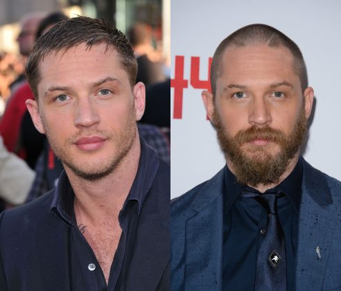Tom Hardy without a beard totally deserves to be eaten by Venom. (Photo: WENN)