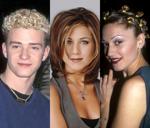 From Gwen's quirky space buns to Winona's sophisticated pixie to Justin's infamous ramen noodles, here are 10 iconic celebrity hairdos from the 90's you totally rocked! (Photos: Release)
