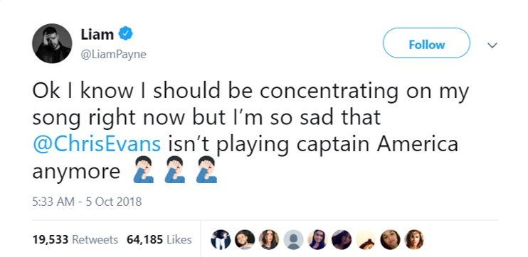 Captain England mourned the farewell of Captain America. (Photo: Twitter)