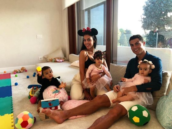 Cristiano regularly posts pictures of his family, four children and girlfriend Georgina Rodriguez. (Photo: Instagram)