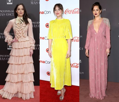 Mr. Grey will see Dakota Johnson's best looks, now. How about you? Click to see 10 times the actress has experiment with colors other than grey. (Photo: WENN)
