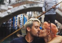 G-Eazy and Halsey celebrating their love on a gondola ride in one of the city of Venice's many canals. (Photo: Instagram)