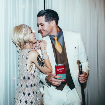 G-Eazy and Halsey dressed up as the American Dream Couple for Halloween 2017. (Photo: Instagram)