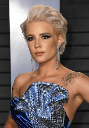 "Earlier this month the rapper said about Halsey: ""she's one of those that when you hear her voice come through live from the booth, it hits you right away. It's pure."" (Photo: WENN)"