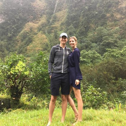 "A pictures of Jared Kushner and Ivanka Trump casually ""chasing waterfalls."" (Photo: Instagram)"