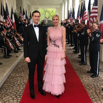 Ivanka and her husband at a State Dinner with France president Emmanuel Macron. (Photo: Instagram)