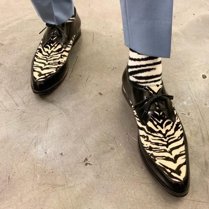 Jeff's footwear is wild—literally. (Photo: Instagram)