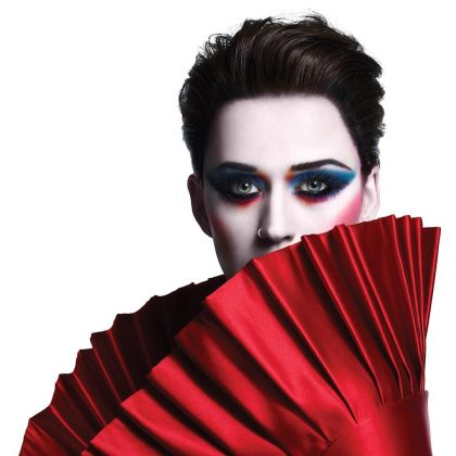 """The cover for her album """"Witness"""" featured a picture of a pale-faced Katy Perry with colorful sultry eyes and fuchsia blush. (Photo: Instagram)"""