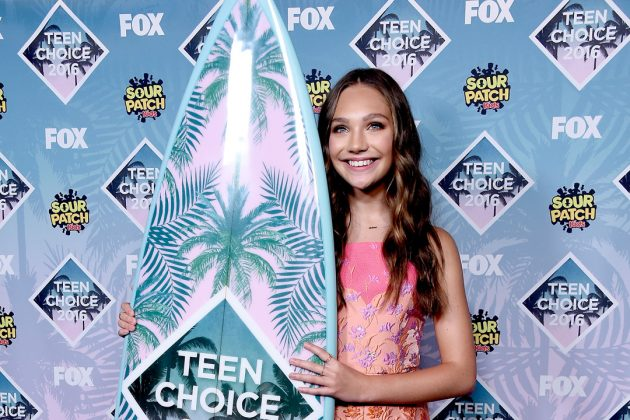 Your Spelling Bee diploma doesn't compare to Maddie's Teen Choice Awards surfboard in the Choice Dancer category, which she's won 3 times in a row since 2016. (Photo: Instagram)