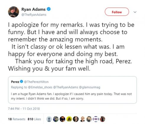 Adams has since apologized for his nasty comments. (Photo: Twitter)