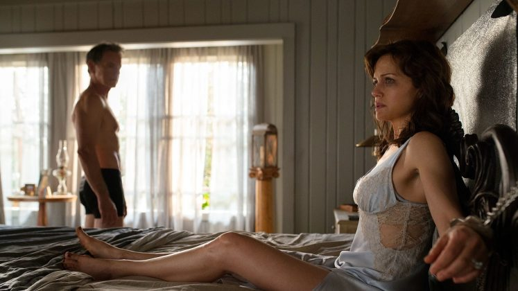 """Gerald's Game""— While trying to spice up their marriage in their remote lake house, Jessie must confront long-buried demons within her own mind as she fights to survive when her husband unexpectedly dies, leaving her handcuffed to their bed frame. (Photo: Release)"
