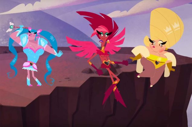 """The adult cartoon """"Super Drags"""", about three drag queens with super powers, will premiere its first season on November 9. (Photo: Disclosure)"""