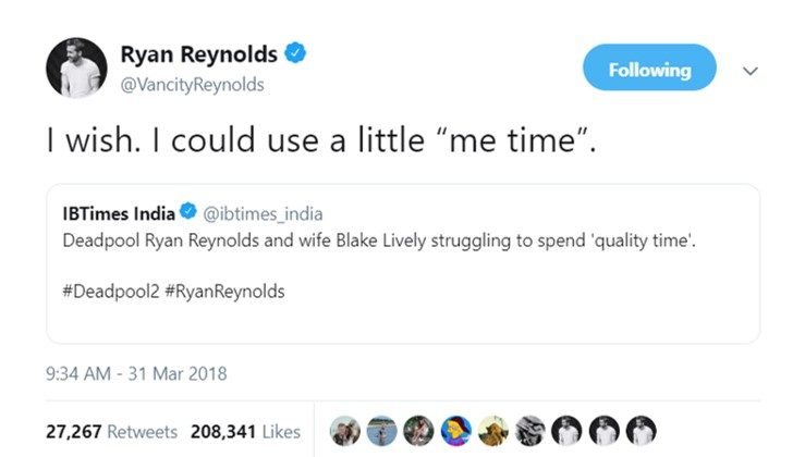 Just Ryan Reynolds handling fake news better than most. (Photo: Twitter)