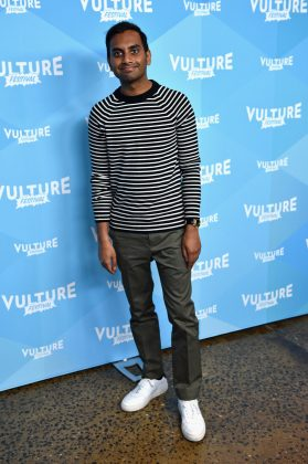 "Aziz Ansari truly is ""Master of None""—not even height! The Netflix star in only 5'6"". (Photo: WENN)"