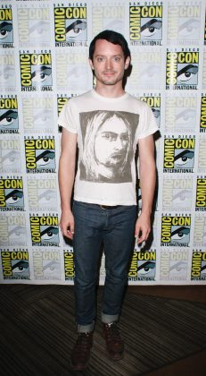 "He didn't play a hobbit for nothing. The ""Lord of the Rings"" star Elijah Wood is only 5'5"". (Photo: WENN)"