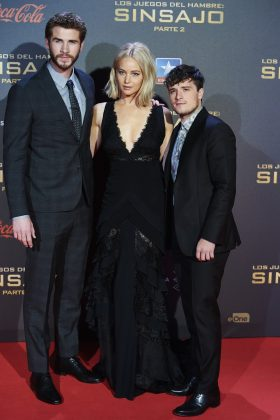 "With a height of 5'5"", birthday boy Josh Hutcherson looks especially short standing next to, well, anyone! (Photo: WENN)"