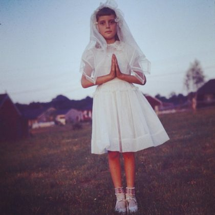 Because she shared throwback picture of her childhood. Like this photo of a young little Susan at her first communion. We still can't decide if the picture is kind of creepy or totally amazing. (Photo: Instagram)