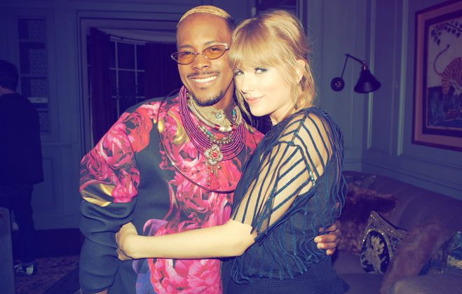 Swift and a backup dancer posing together for a sweet photo opp. (Photo: Instagram)