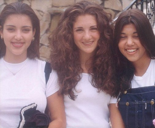 High school Kimmy, Alisson and Kourtney posing for a very 90's picture. (Photo: Instagram)