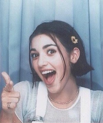 Kim's 90's hairdo was clearly inspired by Drew Barrymore. (Photo: Instagram)