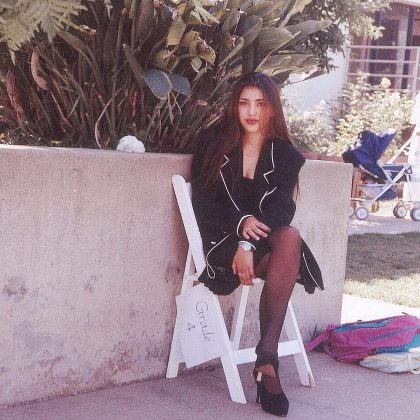 Kim being all stylish and fashionable in 7th grade. (Photo: Instagram)
