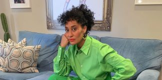 Tracee Ellis Ross serving us a all-green look. (Photo: Instagram)