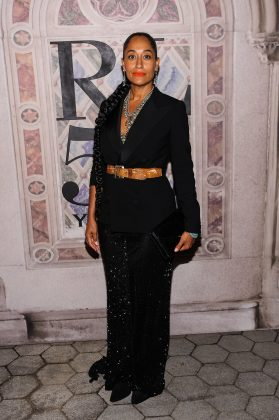 Ross slayed while celebrating Ralph Lauren's 50th anniversary wearing a black single-breasted blazer, cinched around her waist with a brown belt. (Photo: WENN)